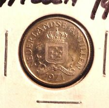 CIRCULATED 1971 25 CENT NEDERLANDSE  ANTILLEN COIN (72216)2