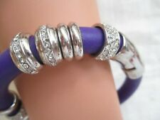 TWO ( 2 )COSTUME BRACELET BANGLE STYLE  BRIGHT RED & PURPLE, WITH LOTS OF GLITZ