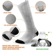 Electric Heated Socks Rechargeable Battery Feet Foot Winter Warmer Thermal Sock.