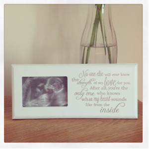 Baby Scan Picture Photo Frame Plaque Pregnancy Baby Shower Gift