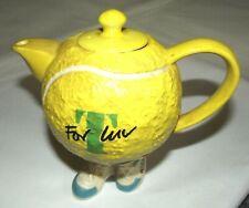 'For T Luv' By Studio Range Yellow Tennis Ball On Legs Tea Pot