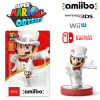 Mario White Outfit Amiibo Super Mario Odyssey Series Nintendo Switch 3DS Wii U