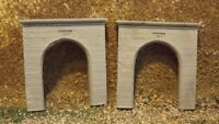 N-Scale 2pc.Single Track Concrete Portal's 1:160 Model Train Detail Parts