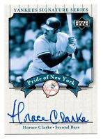 2003 Upper Deck Yankees Signature Pride of New York Horace Clarke Autograph RIP