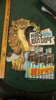 """50s VINTAGE HIRES ROOT BEER SODA """"REAL ROARIN"""" VACUFORM SIGN W/6-PACK-17x14!!"""