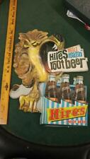"50s VINTAGE HIRES ROOT BEER SODA ""REAL ROARIN"" VACUFORM SIGN W/6-PACK-17x14!!"