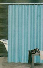 Blue Fabric Shower Curtain with Vinyl Liner & Hooks Bathroom Set Blue Circle