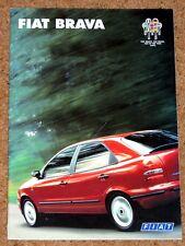 1996 FIAT BRAVA Sales Brochure - S SX ELX TD75 TD100 1.4, 1.6, 1.8 Accessories