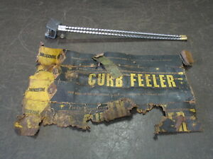 VINTAGE THUNDERTONE TWIN CONTINENTAL CURB FEELER SOLID BRASS TIP HOT RAT ROD