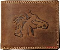 Hochwertige Geldbörse Geldbeutel Portemonnaie Büffel Leder Pferd Wild Börse