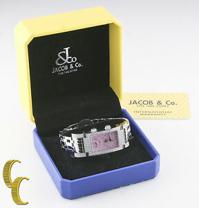 Jacob & Co. Stainless Steel & Diamond Angel Quartz Watch w/ Box & Papers
