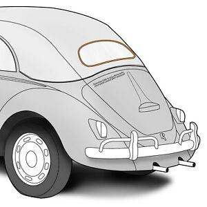 1963-1975 VW Beetle/Super Convertible Aluminum Rear Window Molding Trim 353229