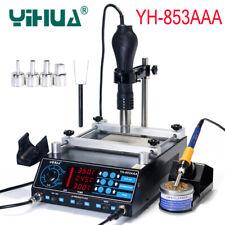 YIHUA 853AAA  3 in 1 Rework Soldering Station Hot Air Gun BGA Desoldering Tools