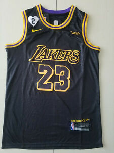 New LeBron James 23 Men Los Angeles Lakers Black Mamba Jersey All Sizes