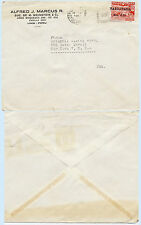 Peru 1951 Commercial Airmail Advertising Cover to USA 108