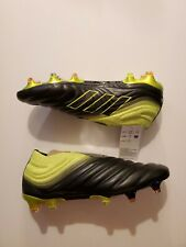 Adidas Copa 19+ FG BB8087 Size 7.5 Black/Yellow/Black. Soccer Cleats