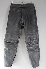 Rhino Negro Cuero De Vaca Cuero Biker Pantalones-cintura 32 Pulgadas/29 pulgadas dentro de la pierna