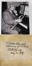 W.C. Handy ''Father Of The Blues'' African American Composer Autograph ''Rare''