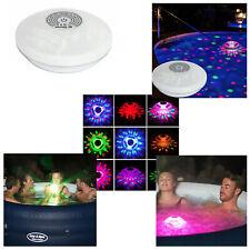 Bestway LayZ Spa Hot Tub Flowclear Multi Colour LED Floating Pool Disco Light
