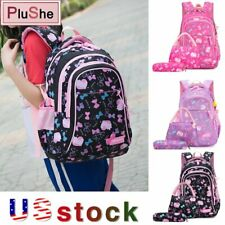 3PCS/Set Girls School Bags Sweet Princess bow Prints Backpacks With Lunch Kits