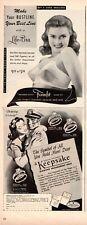 1944 WW2 era ADs FROMFIT LIFE BRAS & KEEPSAKE DIAMOND RINGS  Two for One! 022821