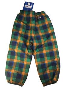 New Patagonia Reversible Puff Ball Pants 4 Toddler NWT Green