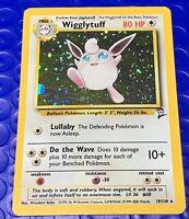 Pokemon Wigglytuff 19/130 Base Set 2 Holo WITH SWIRL Light Play LP 2000