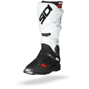 Sidi Crossfire 3 Black White Motocross MX Motorcycle Boots - Free Shipping