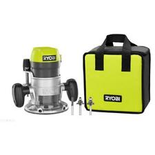 RYOBI Router 8.5 Amp Corded 1-1/2 Peak HP Fixed Base LED Lights