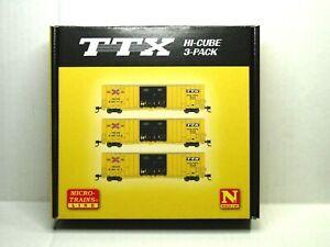 MICRO-TRAINS LINE N SCALE HI CUBE BOX CAR 3-PACK TTX 99301840