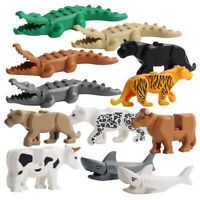 Crocodile Tiger Cow Buildable Model kids Animal Building Block Fit Lego/Decor