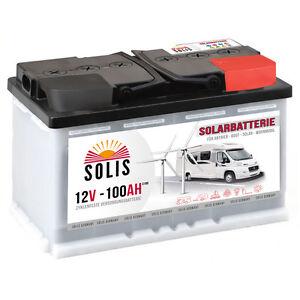Solarbatterie 100AH 12V Boot Wohnmobil Caravan Versorgungs Mover Solar Batterie