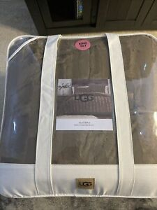 UGG Alondra Faux Fur 3 Piece King Comforter Shams Set Dream Fawn Brown