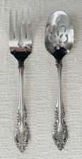 "New listing Oneida Community Brahms Stainless 8 3/8"" Pierced Serving Spoon & Serving Fork"