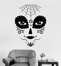Vinyl Wall Decal Day of the Dead Gothic Girl Mask Stickers Mural (ig3741)