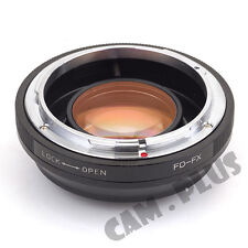 Camera Adapter Fr Canon FD Lens to Fujifilm FX Focal Reducer Speed Booster X-A1