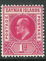 Cayman Islands 1905 carmine 1d multi-crown CA watermark mint SG9