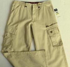 NWT Zoo York Boys Khaki Cargo Pants (Size 20) MSRP$44.00 NEW