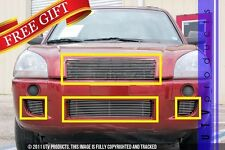 GTG Polished 4PC Combo Billet Grille Grill Kit fits 2004 - 2009 Hyundai Tucson