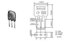 MURATA 10.7MHz 2 ELEMENT CERAMIC FILTER 'CERAFIL' 150KHz BANDWIDTH