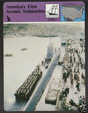 THE NAUTILUS America's First Atomic Submarine Photo STORY OF AMERICA CARD