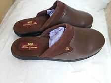 Clifford James Brown Chatsworth Softee Leather Mule Slipper's for Men Size UK 11
