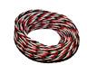 0,25 mm² Servokabel, Servolitze 5m, schwarz, rot, weiß, Futaba Farbe,verseilt