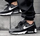 AUTHENTIC NIKE AIR MAX 90 Iron Smoke Grey White Black Men Gym Shoes size