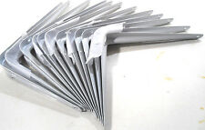 "TWELVE (12) SHELF BRACKETS 6"" INCH X 8"" INCH WHITE METAL"