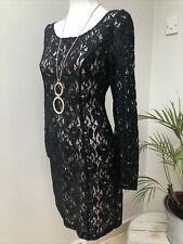 DESIGNER ALICE TEMPERLEY BLACK LACE SHIFT DRESS SIZE UK12 EX CON