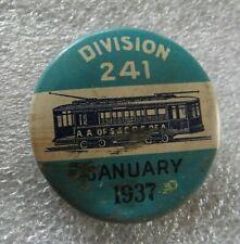 1937 Chicago 241 Un De S & Cateur. E Électrique Chemin Fer Chariot Union Pin