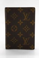 Louis Vuitton  Unisex Logo Print Leather Binder Notepad Holder Brown