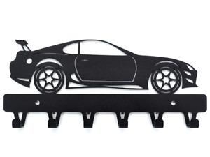 Toyota Supra Car gift key hanger black coat hook Home decor Organizer gift