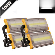 2 x100W COB LED Flood Light Outdoor Fixture Cool White Garden Building Yard Lamp